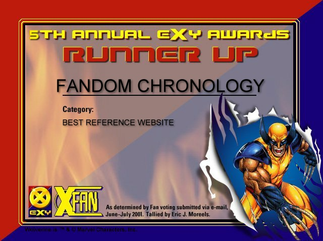 Runner Up in the 5th Annual Exy Awards in the Best Reference Site category